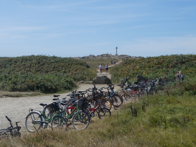Bicycle parking on Ile d'Yeu